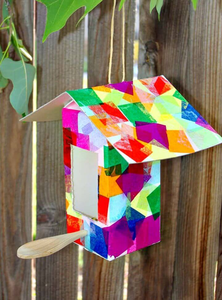 Easy DIY A Milk Carton Birdhouse