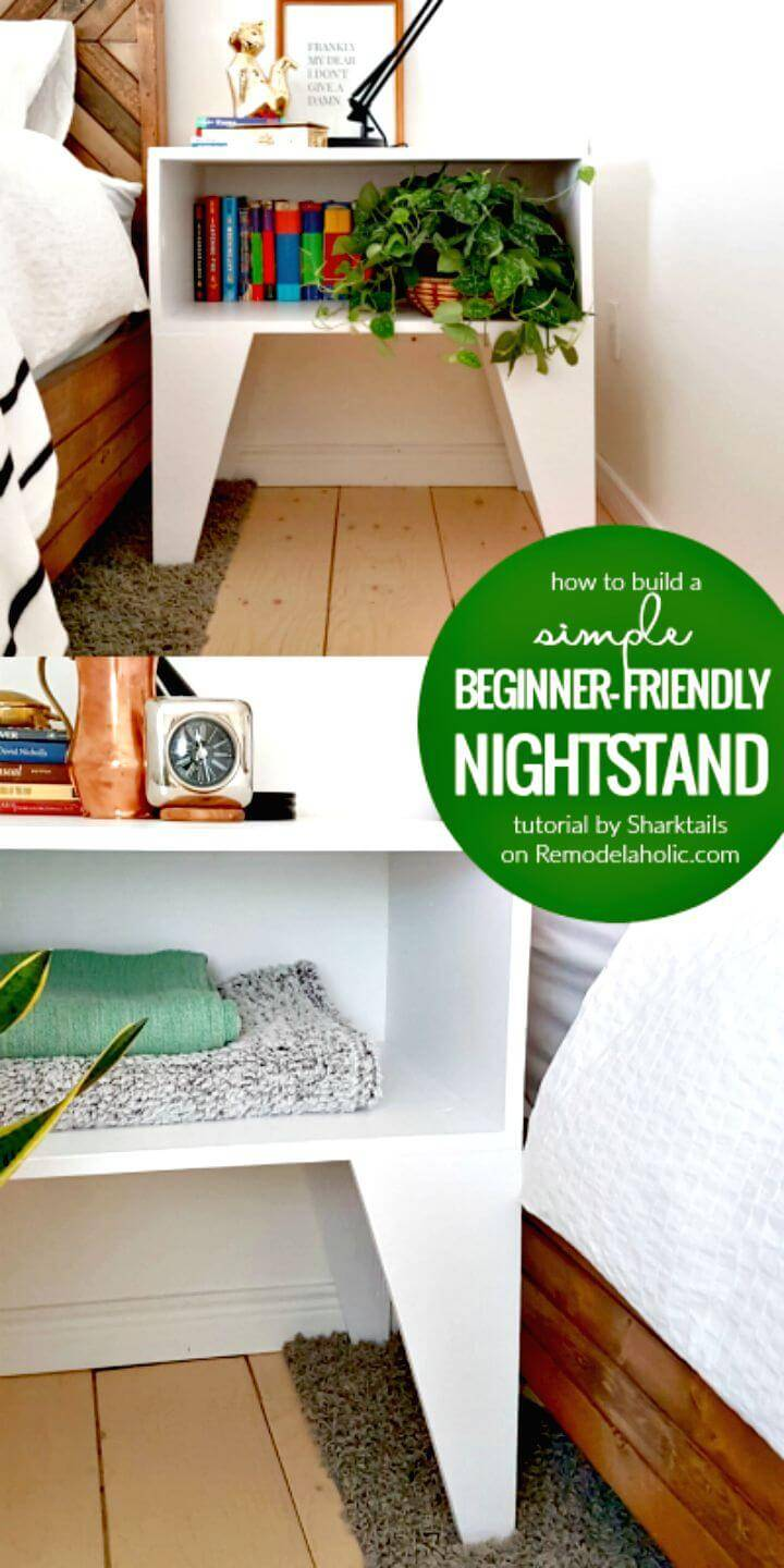 Easy How To Build A Super Easy Nightstand Tutorial