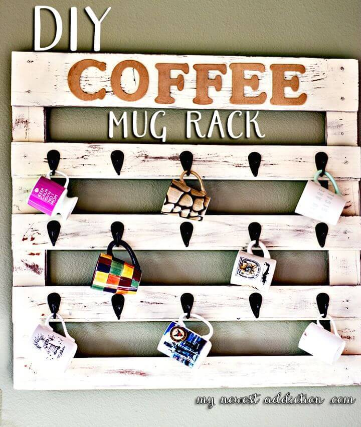Easy To Build Coffee Mug Rack - DIY