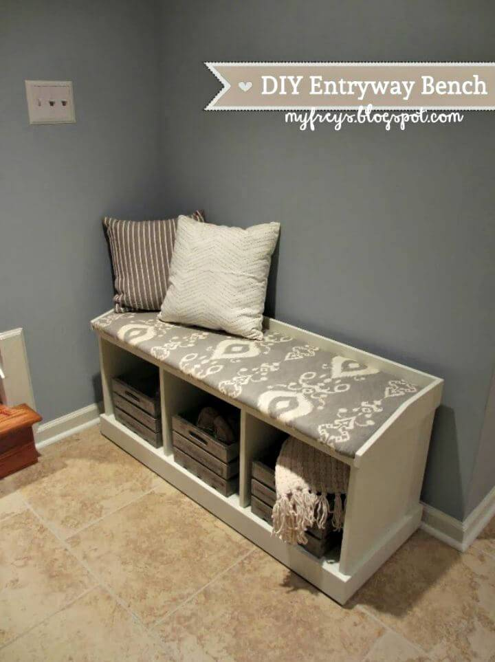 Easy To Build Entryway Bench Tutorial