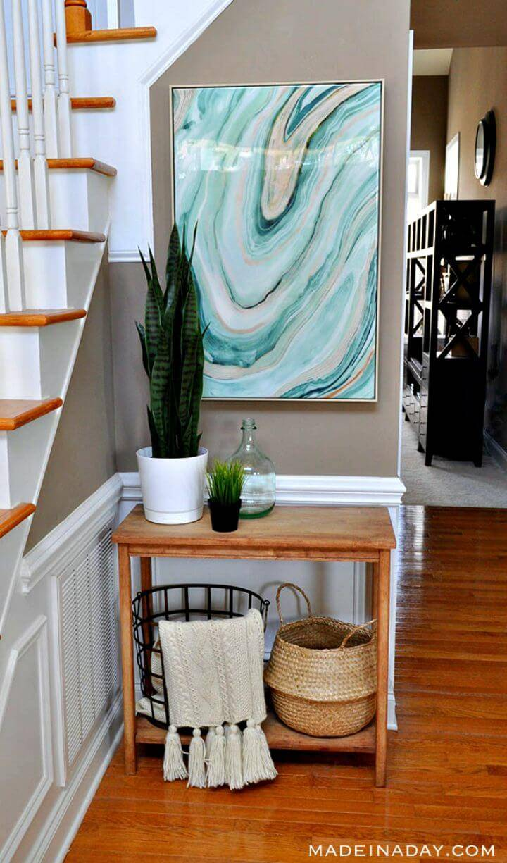 Easy How To Build Fresh Entryway Makeover Using Silk Plants Tutorial