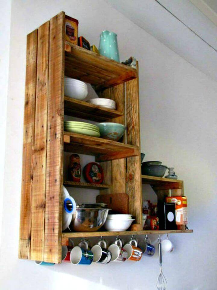Easy How To Build Pallet Kitchen Cabinet - DIY