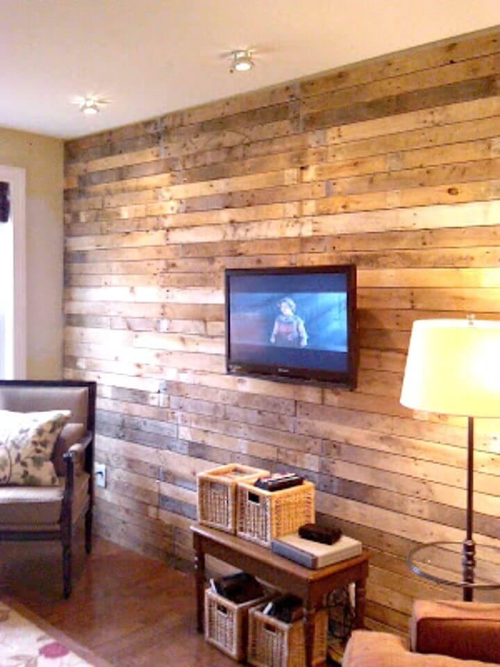 Easy How To Build Pallet Wall - DIY