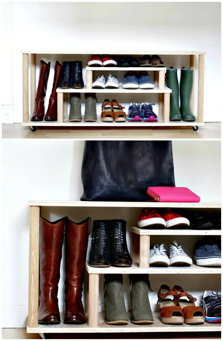 How To Build Shoe Rack For The Entryway Or Mudroom Tutorial