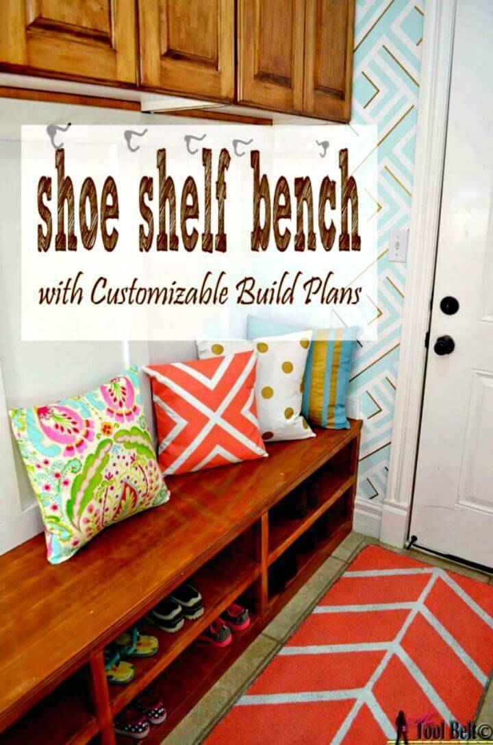 How To Build Shoe Shelf Bench Entryway Tutorial