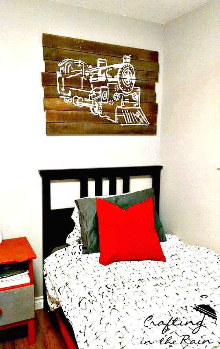 Easy How To Build Train Pallet Art - DIY
