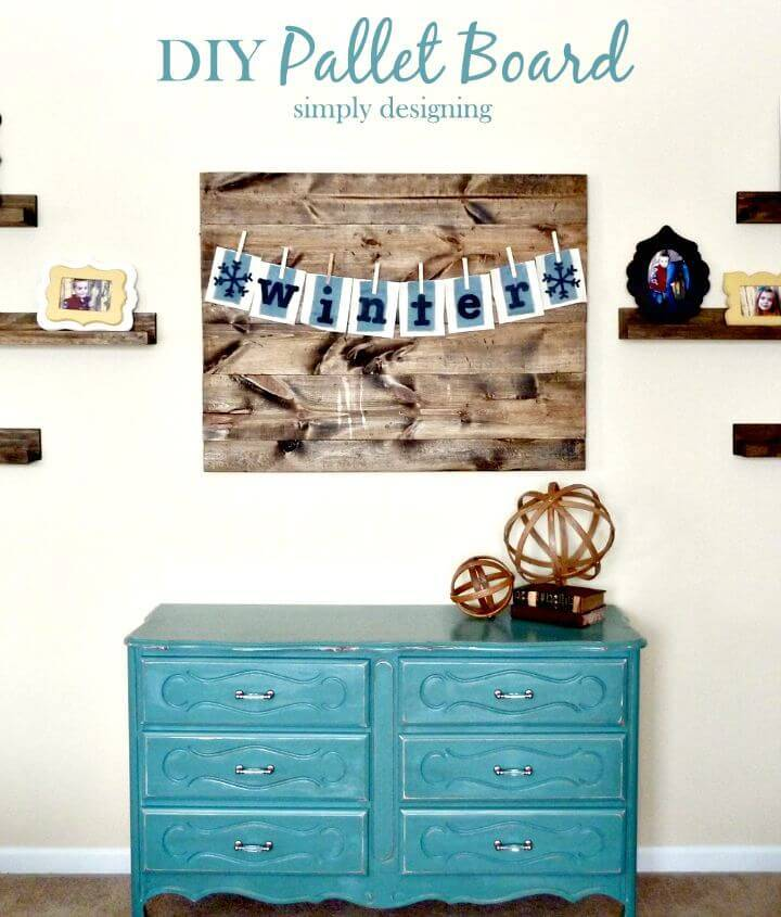 Easy Build Your Own Distressed Pallet Board - DIY