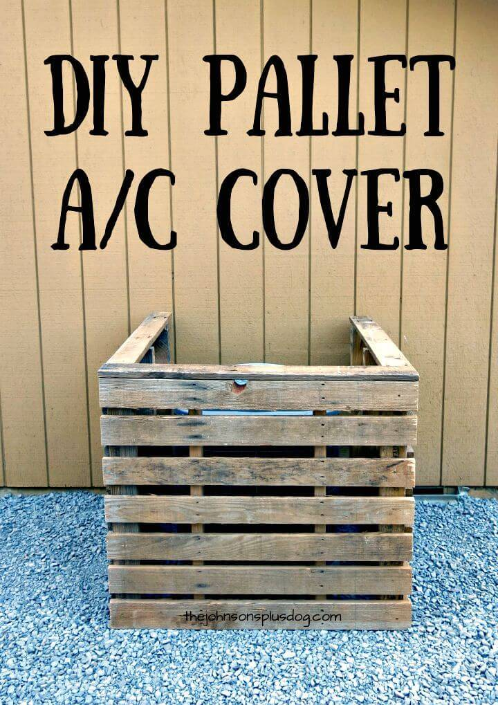 Easy How To Build Your Own Pallet AC Cover - DIY