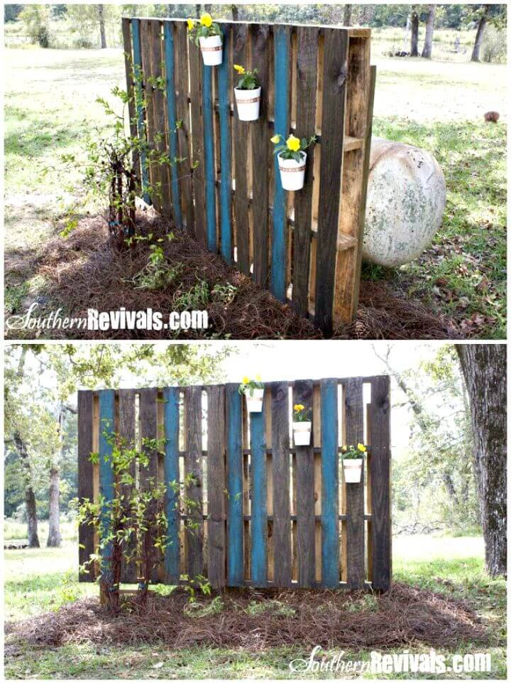 How To Build Your Own Pallet Garden Wall - DIY