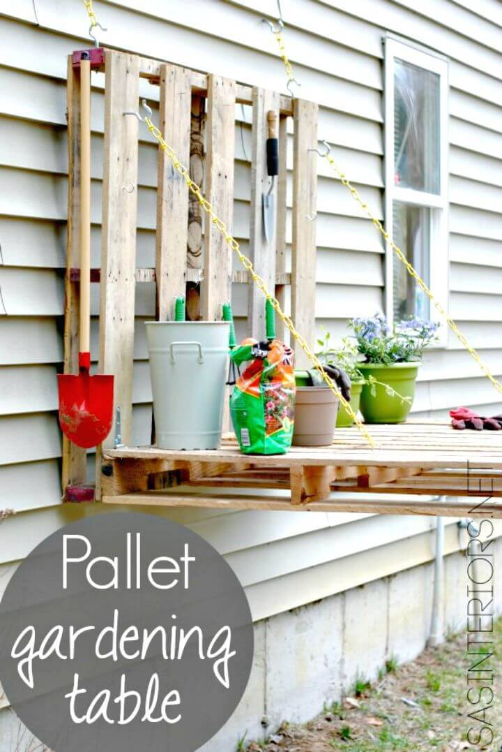 Build Your Own Pallet Gardening Table Tutorial