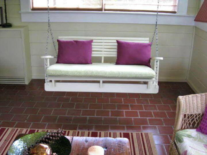 Easy How To Build Your Own Pallet Swing Chair Tutorial