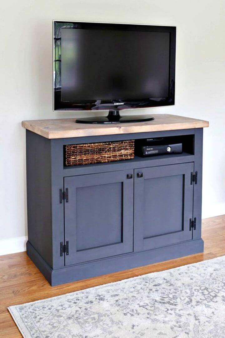 Easy How To Build Your Own Rustic TV Stand Tutorial