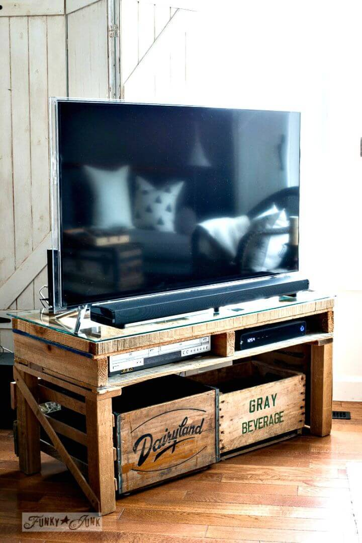 Easy How To Build Your Own TV Stand Out Of Pallet Tutorial