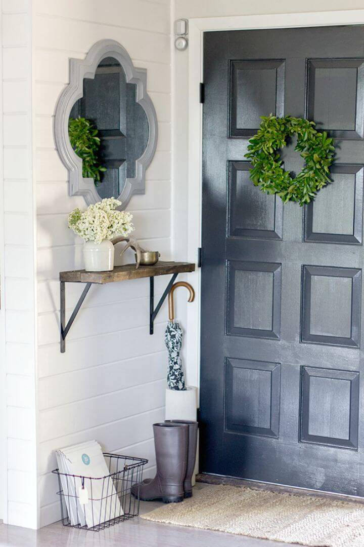 Easy How To DIY Entryway Decoration Tutorial
