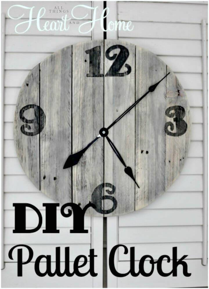 Easy DIY Pallet Clock Step by Step Tutorial