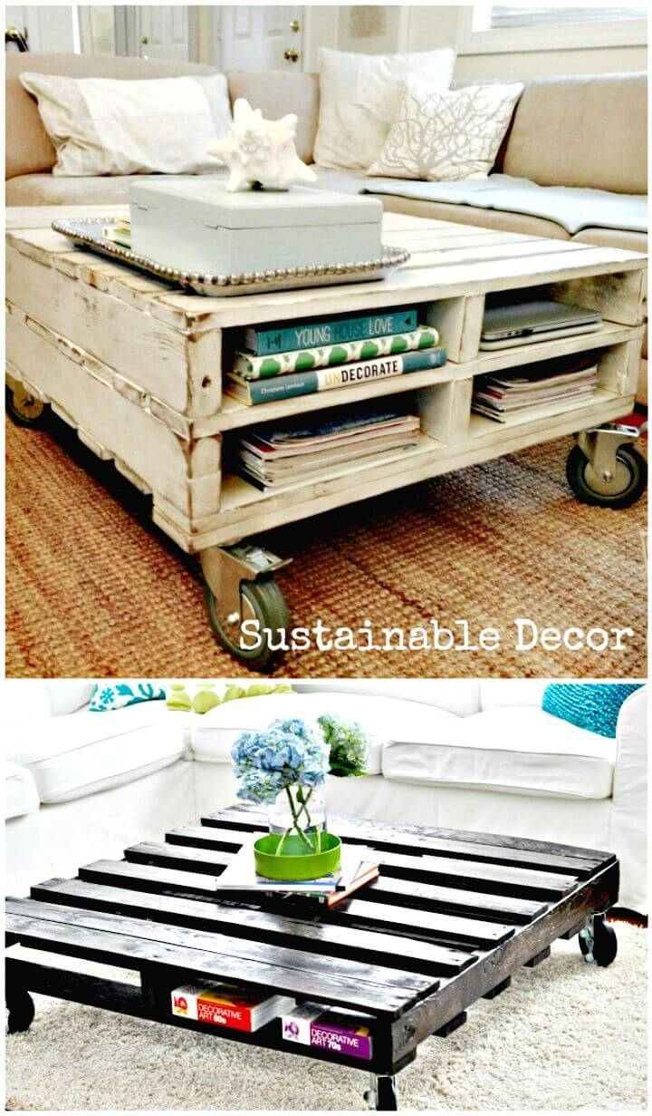 How To Build Pallet Coffee Table - DIY