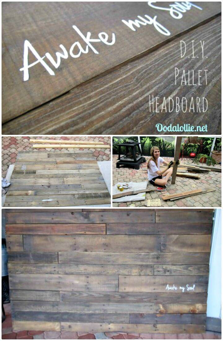 How To DIY Pallet Headboard Tutorial