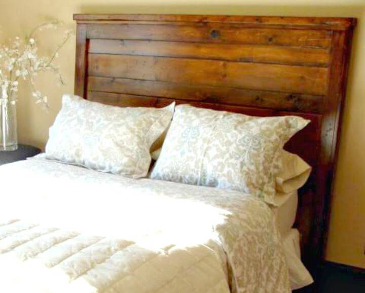 Easy How To DIY Reclaimed Wood Look Headboard King Size Tutorial