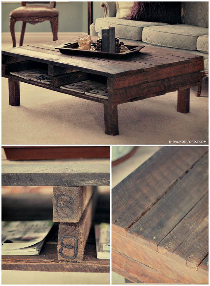 Easy DIY Rustic Pallet Coffee Table Tutorial
