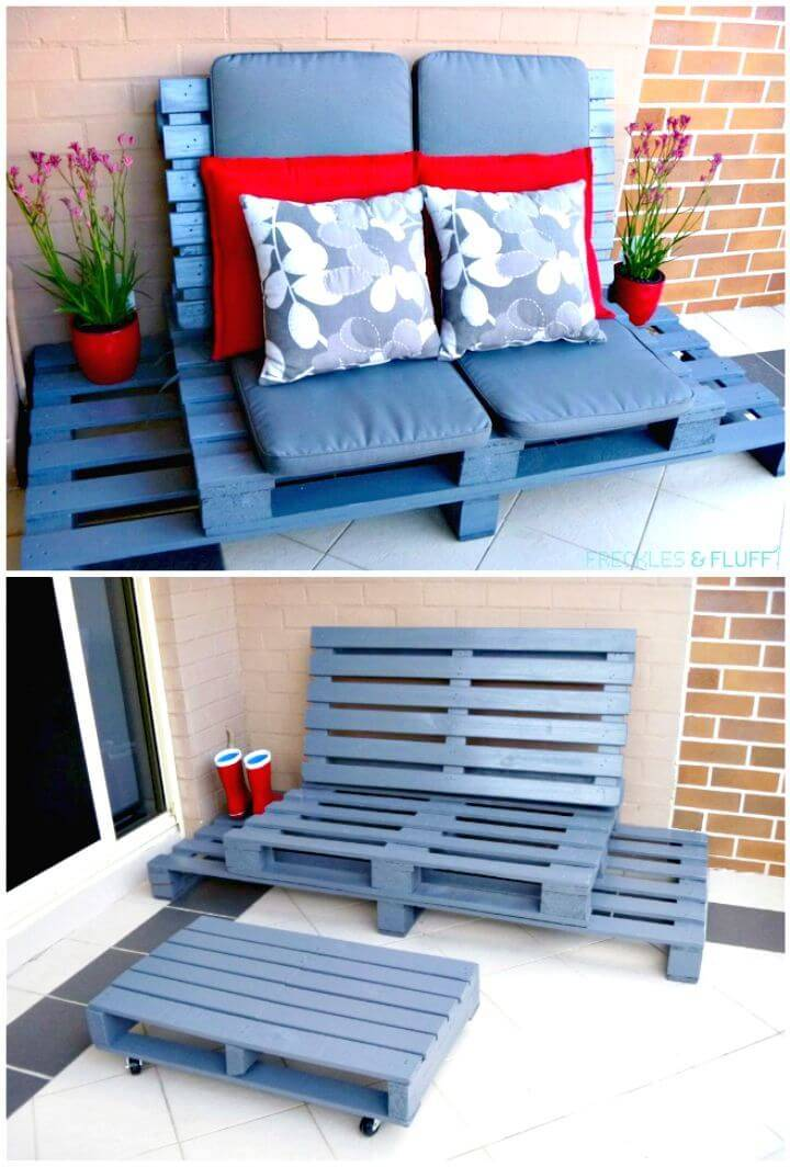 Easy DIY Wooden Pallet Chillout Lounge Tutorial