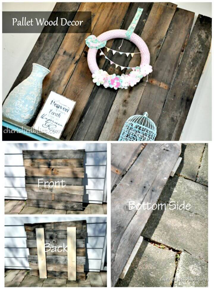 Easy DIY Entry Way Pallet Wood Tutorial
