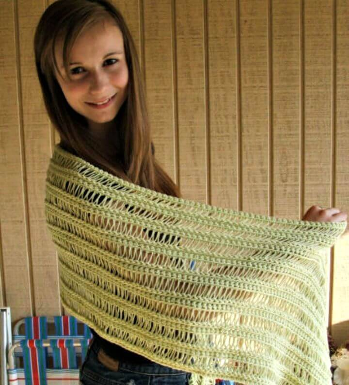 Easy How To Free Crochet Spring Shawl Pattern