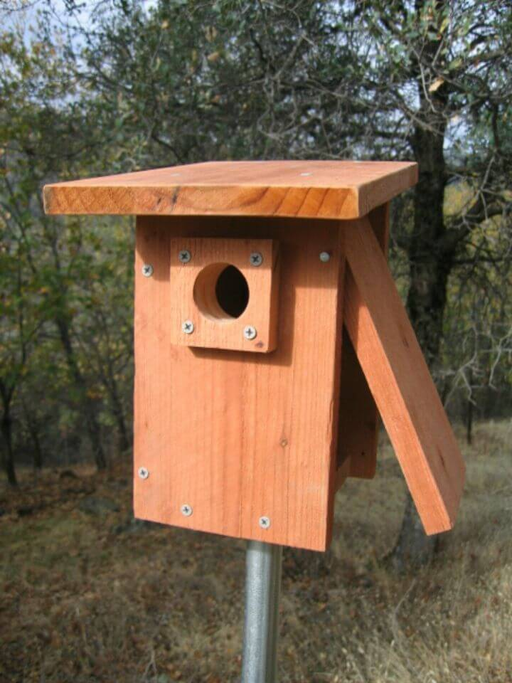 How To Make an Alternative Blue Birdhouse Tutorial