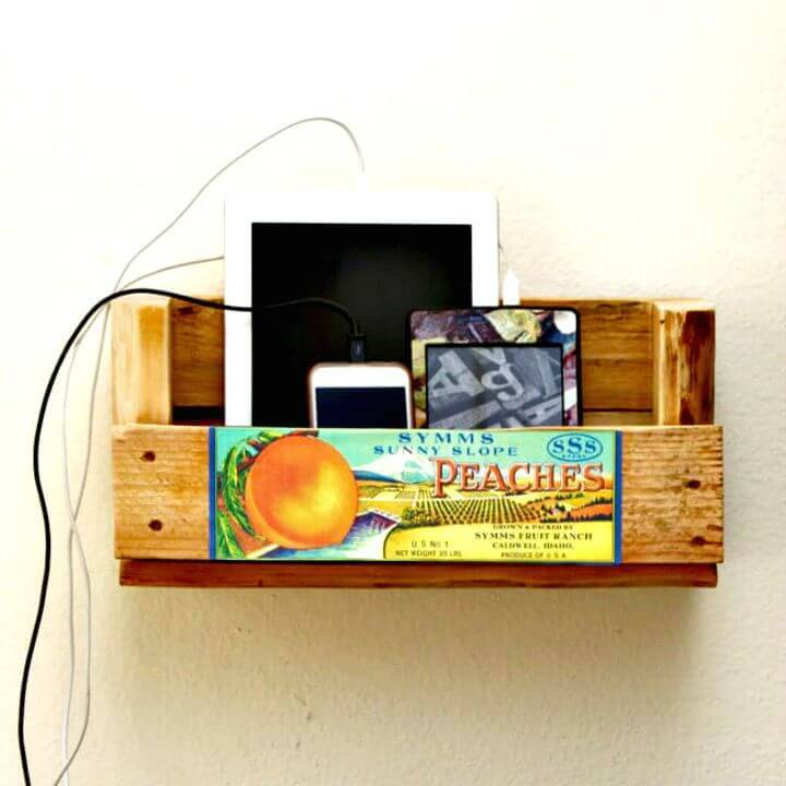 How To Make A Pallet Shelf Charging Station Tutorial