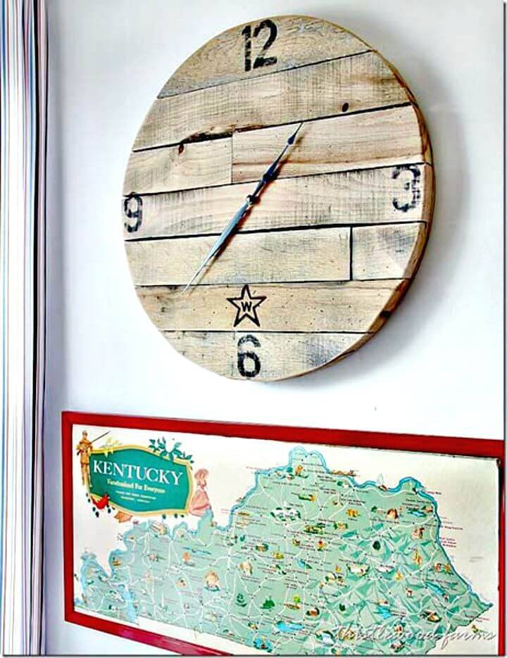 Easy DIY A Pallet Wood Clock Tutorial