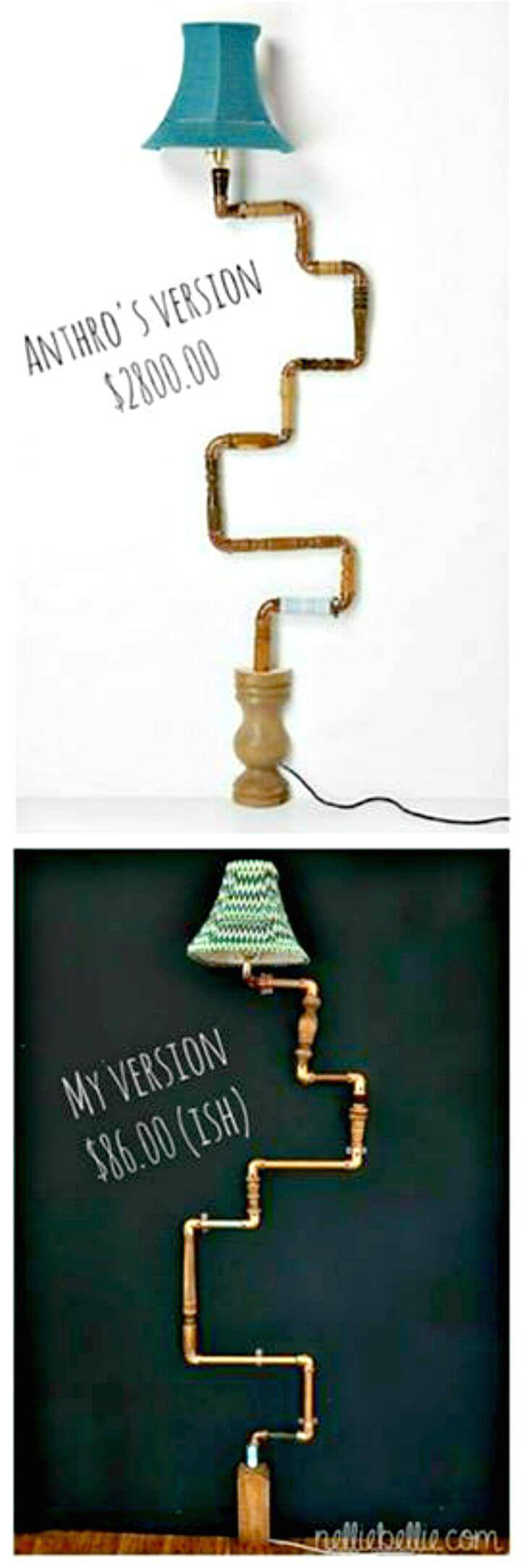 Easy How To Make A Pipe Lamp Tutorial