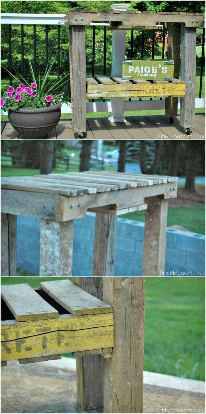Easy DIY Workbench Out Of Pallets Tutorial