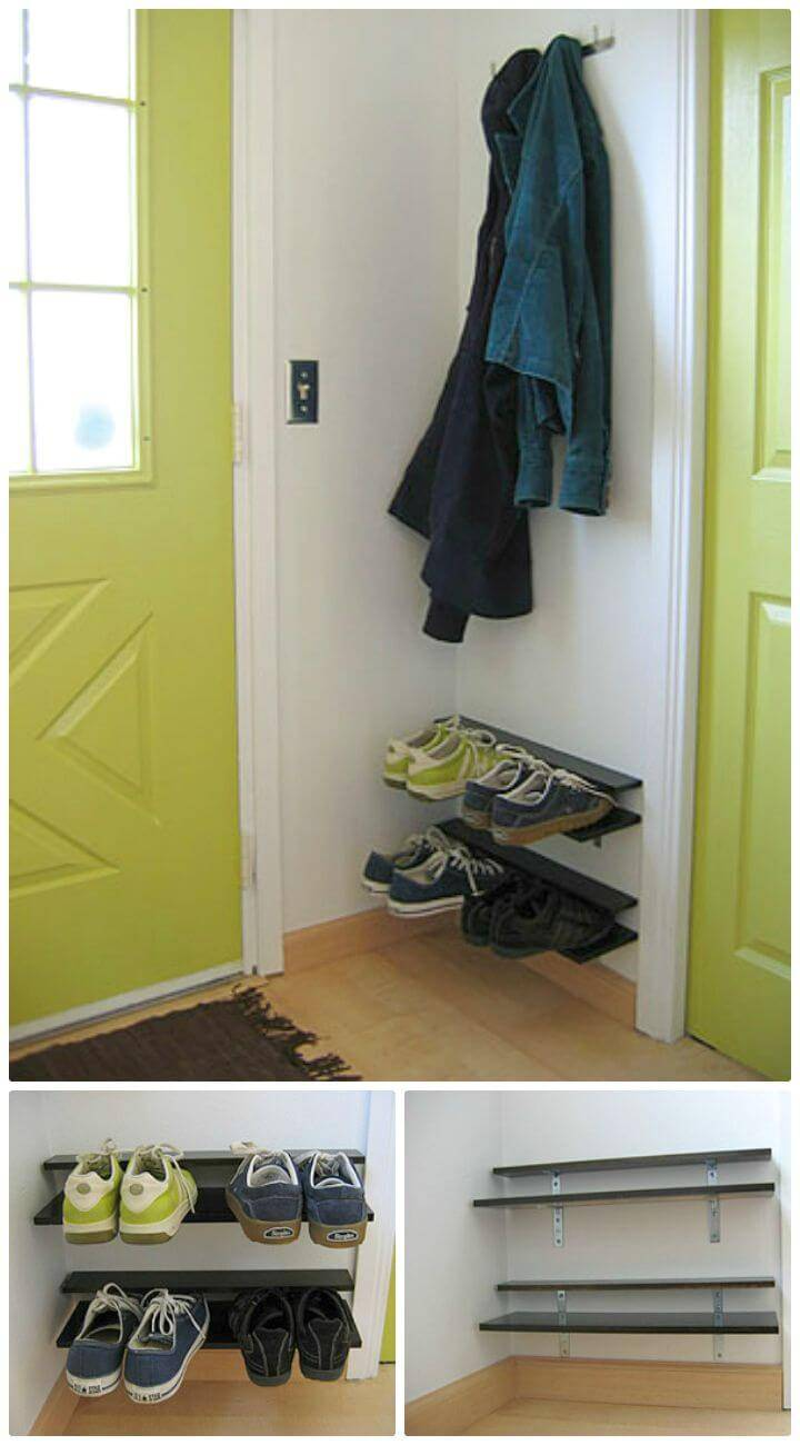 Make Your Own Entryway Shoe Rack Tutorial