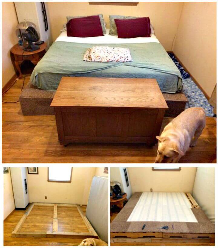 How To Make King Size Pallet Bed Tutorial