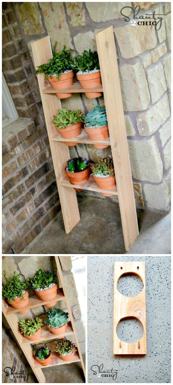 Easy How To Make Ladder Planter Under 10$ Tutorial