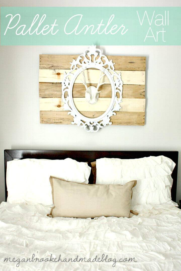 Easy To Make Pallet Antler Wall Art - DIY