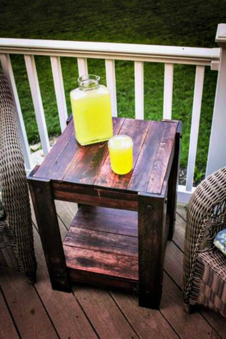 Easy How To Make Pallet End Table Tutorial