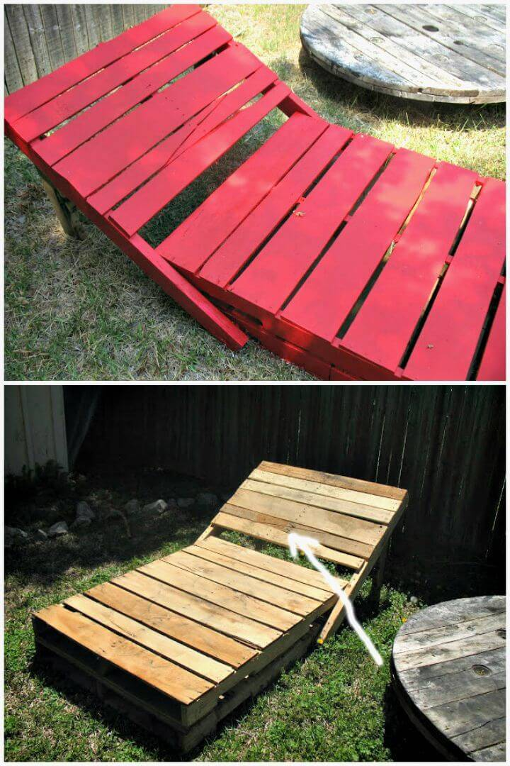 Easy To Make Pallet Lounge Chair - DIY