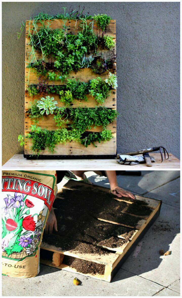 How To Make Pallet Vertical Garden Tutorial
