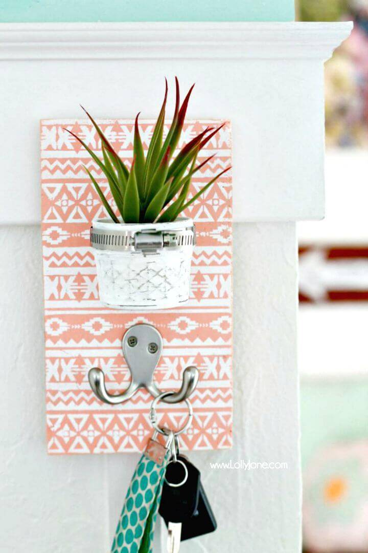 How To Make Succulent Key Holder Tutorial