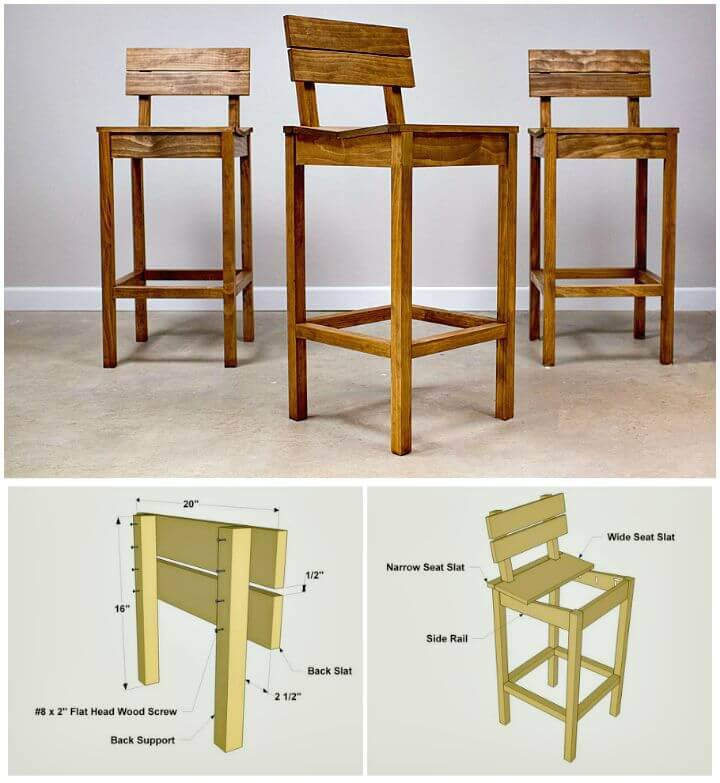 Easy How To Make Tall Pallet Pub Chairs - DIY