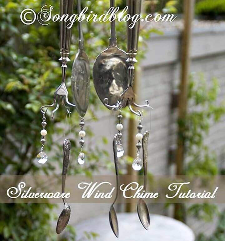 DIY Wind Chimes From Vintage Silverware Tutorial