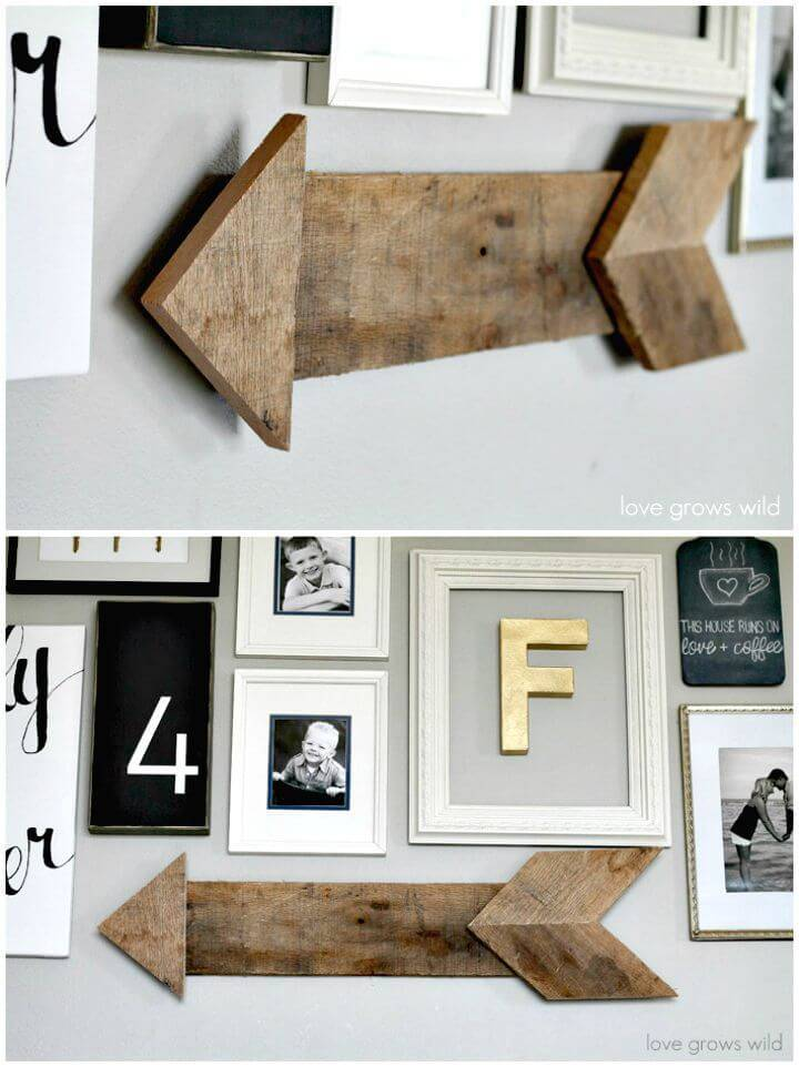 How To Make Wood Pallet Arrow - DIY