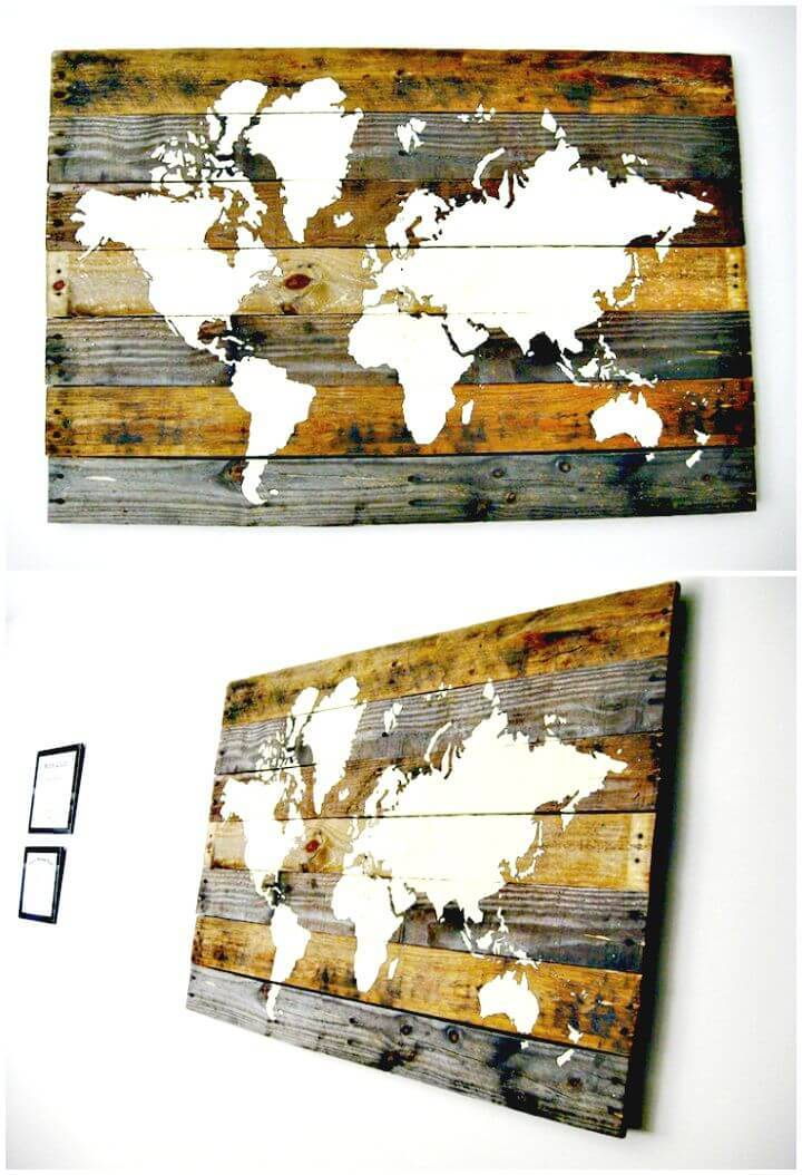 DIY Pallet Board World Map Tutorial