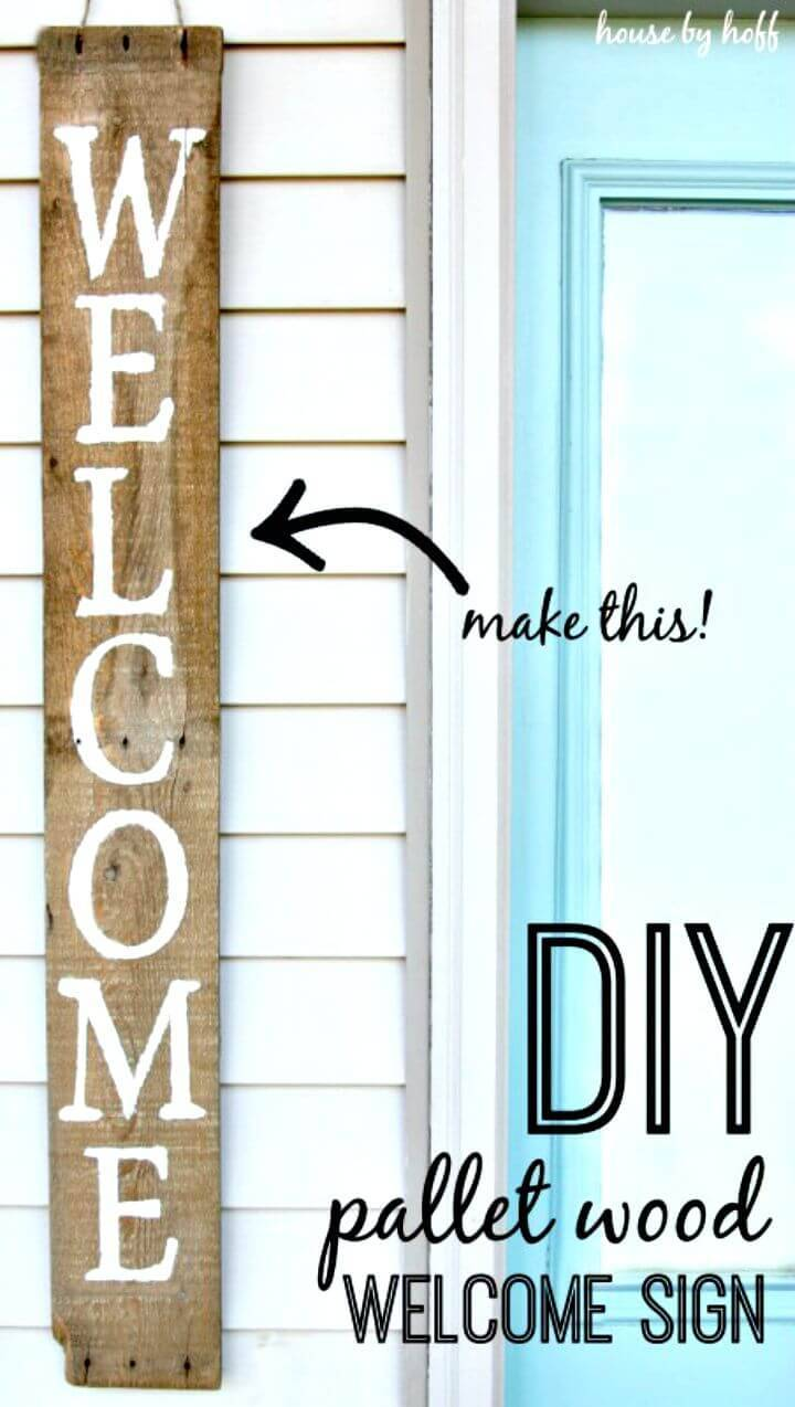 How To Make Your Own Pallet Wood Sign - DIY