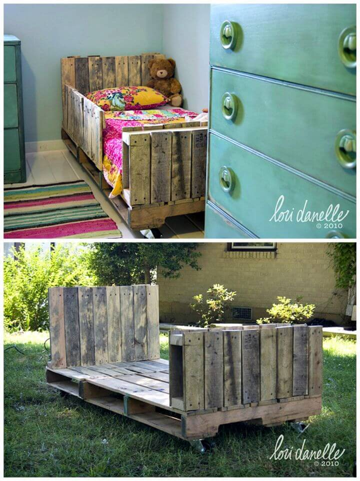 DIY Toddler Pallet Bed Tutorial