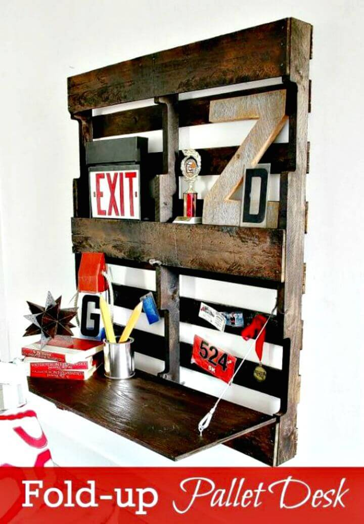 Easy How To Re-purposed Pallet Desk Tutorial