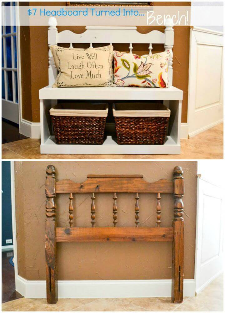 How To Turn Headboard Into Entryway Bench Tutorial