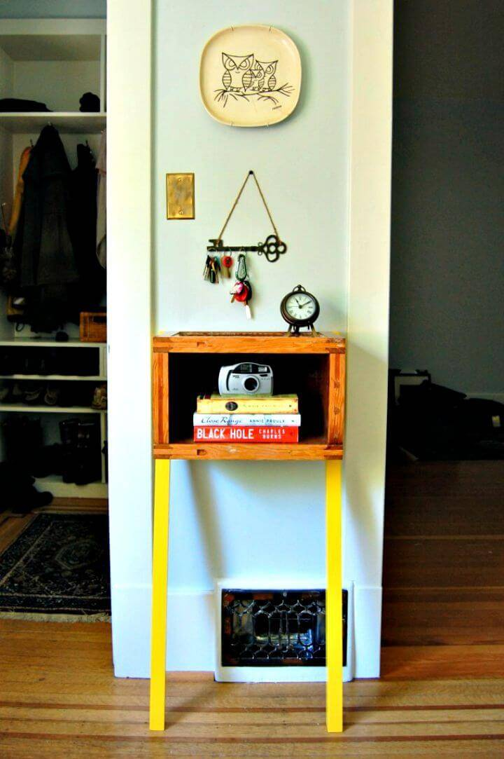 How To Turn Up-cycled Old Door Into Entryway Side-table Tutorial