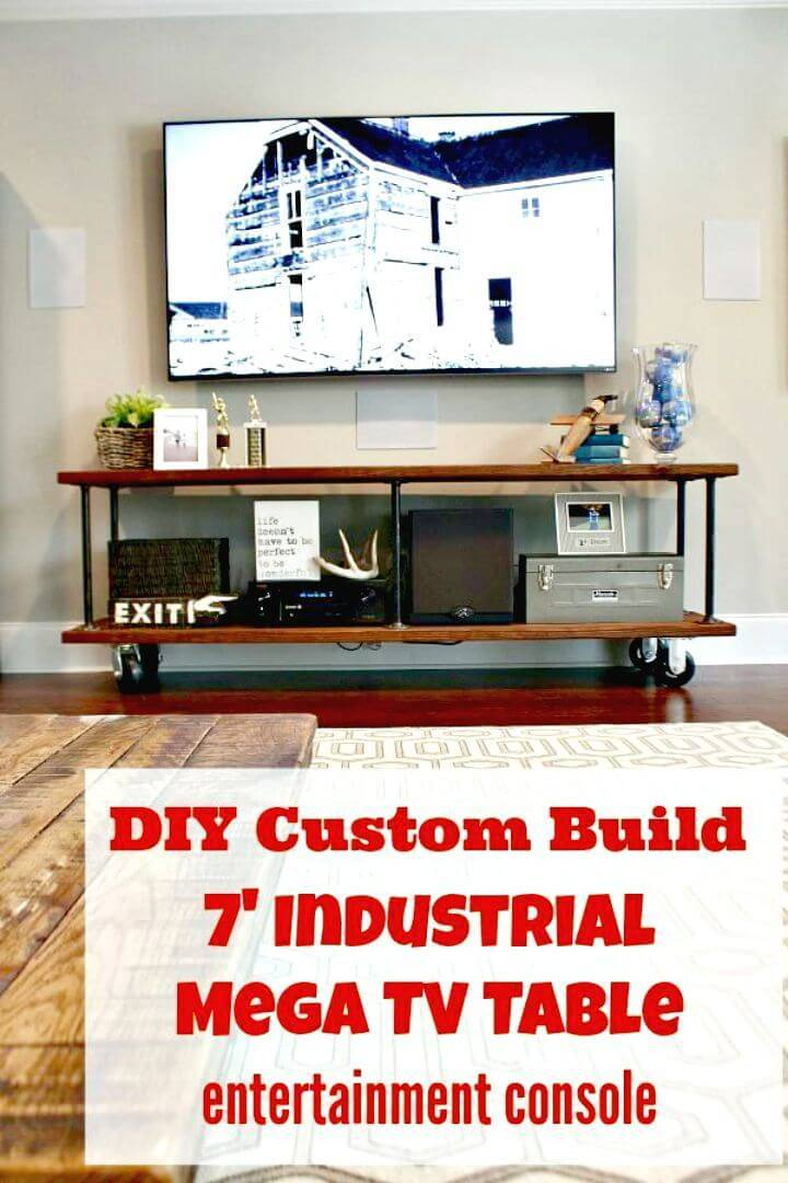 How to Build Your Own an Industrial Console Table For Your TV