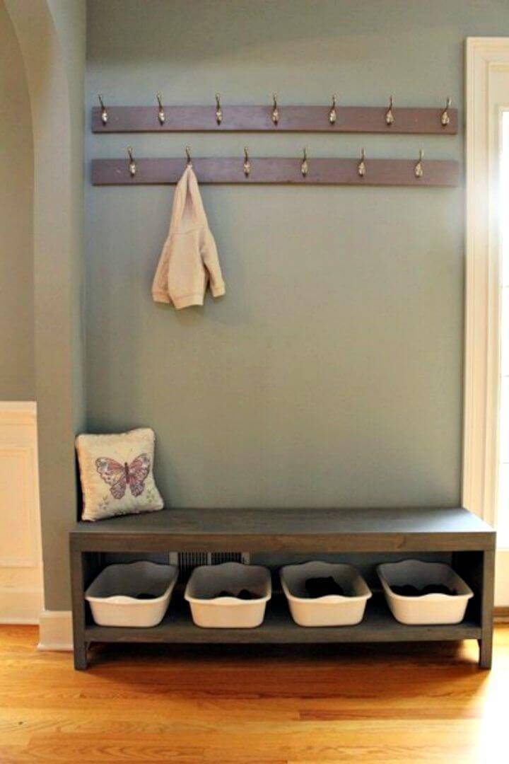 How to Build a Bench with Entryway Shoe Storage Tutorial